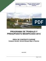 Programa de Trabajo Modificado Gestión 2015 - Surubí