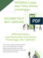 [PROFESIONAL] Jasa Pembuatan Toko Online Purbalingga, WA/SMS/Telp 0811-2829-003