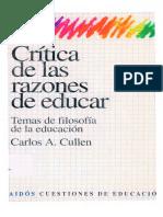 Critica Razones Educar-Carlos Cullen