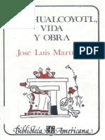 Nezahualcoyotl Vida Obra-J.luis Martinez