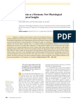 Melatonin as a Hormone New Physiological and Clinical Insights
