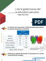 Presentación de Hugo Díaz sobre la gobernanza y el sistema educativo peruano