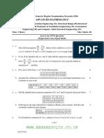 Advance Maths Question Paper 2016 M.tec(Transportation)