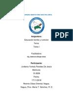 Tarea 1 de Educacion Familiar y Nutricion