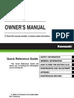 2017 Kawasaki Z125 Owners Manual