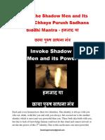 FREE - Invoke the shadow men and its power.pdf