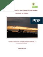 Sinchi Informe Gestion 2014