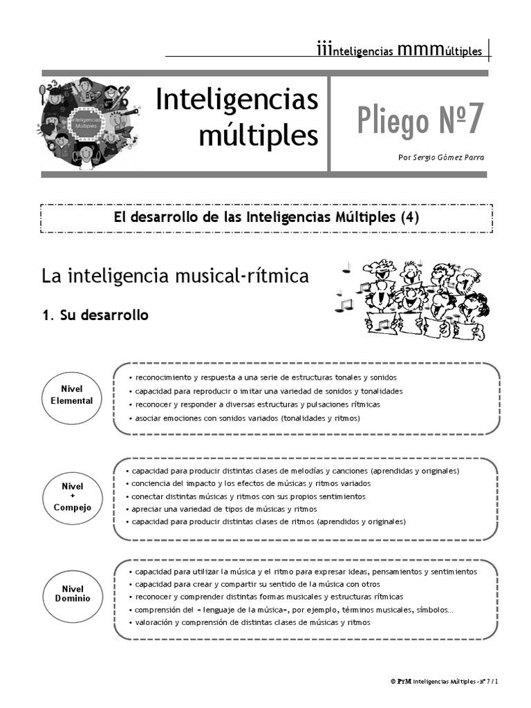 Inteligencia Musical Pdf Rhythm Learning