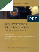Los Propositos de La Educacion by Walter Peñaloza