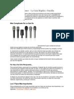 Tipos de Micrófonos