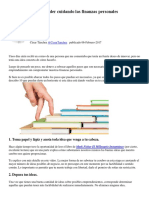 10 Pasos Para Emprender Cuidando Las Finanzas Personales