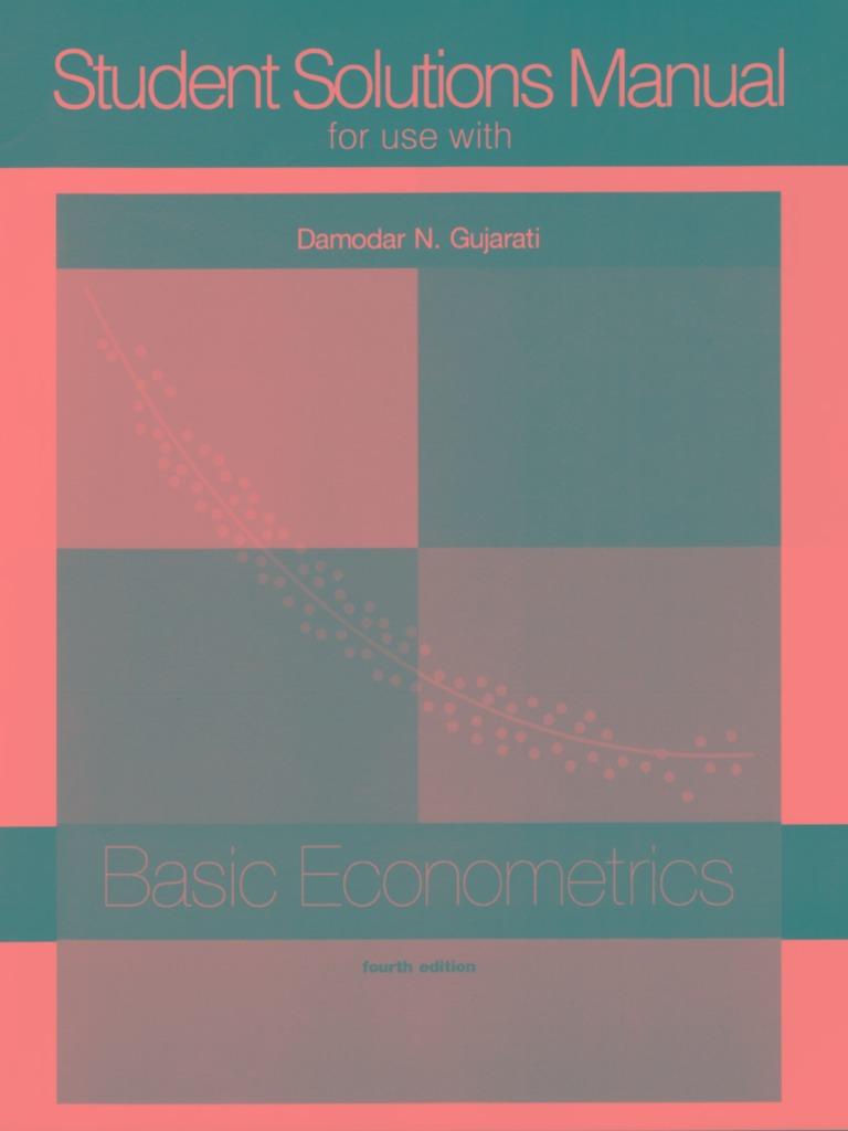 Mnl 5568 Gujarati Basic Econometrics 5th Solution Manual 2019
