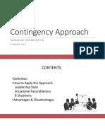 Managing Organization Contingency Approach