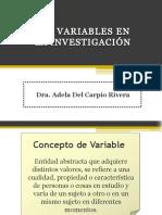 Las Variables en La Investigación.2018