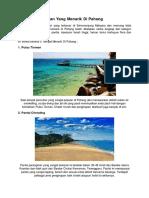 5 Tempat Percutian Yang Menarik