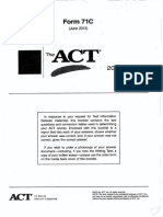 ACT Form 71C (June 2013)