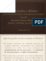 La consulta a debate