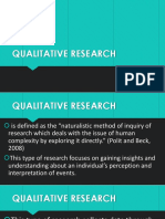 Lesson 9 Types of Qualitative Research
