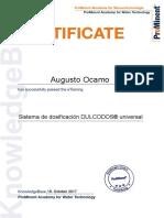 8 Sistema de Dosificación DULCODOS Universal