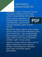 Instrumen Kebijakan Fiskal Moneter