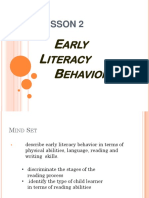 Early Literacy Behavior