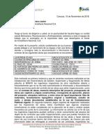 Oficio a Inmobiliaria Sobre Documentacion Tecnica de Obras Estipulada en Contratos