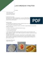 Empanadillas Variadas y Palitos Salados