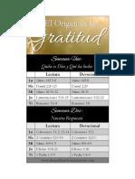 Plan de Lectura Gratitud
