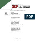 Universidad Alas Peruanas Trabajo de Caminos