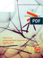 Accenture Informe Responsabilidad Empresarial Espana 2014