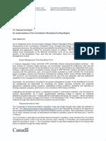 CRTC Telecom Fee Increase Letter