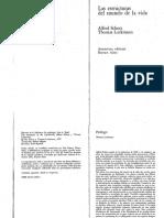 Schutz Alfred Luckmann Thomas Las Estructuras Del Mundo de La Vida PDF