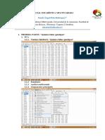 Parcial Estadística Multivariada