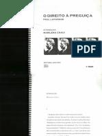 O Direito à Peguiça - Introdução Marilena Chaui.pdf