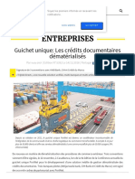 Leconomiste Com Article 1036556 Guichet Unique Les Credits Documentaires Dematerialises