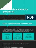 As Regras de Acentuação Gramaticais