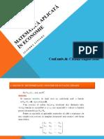 01-Matematica - Algebra liniara - Partea 1.pps