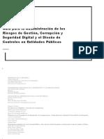 Guía Para La Administración de Los Riesgos de Gestión%2c Corrupción y Seguridad Digital y El Diseño de Controles en Entidades Públicas 2018