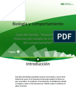 Linea Tiempo Antecedentes Biologia Comportamiento