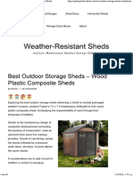 Wood Plastic Composite Sheds - Weather-Resistant Sheds