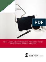 Tema 1 - Formación, Información y Comunicación en Prevención de Riesgos Laborales