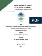 01 Cambio Organizacional Asignatura Direccion de Empresas II
