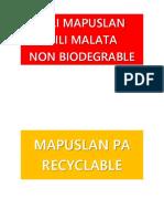 Labels for Waste Segregation