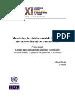 Mundialização do trabalho e movimento feminista