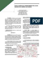 ESTUDIO HIDROLOGICO E HIDRAULICO COMPORTAMIENTO DEL CAUCE CAÑO MAIZARO EN EL BARRIO LOS ROSALES.