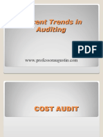 Recent Trends in Auditing