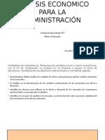 Análisis Economico Para La Administración