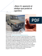 Mercedes Benz G; Apareció El Primer Prototipo Que Probó El Ejército Argentino