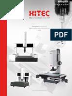 Hitec - Katalog mikroskopy i wideomikroskopy pomiarowe 2019 D