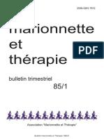 Bulletin trimestriel Marionette et Therapie 1985
